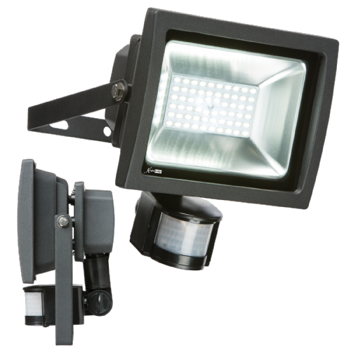 30w LED FLOODLIGHT 6000K 2700LM + PIR SENSOR (412376)
